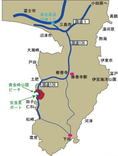 西伊豆黄金崎ダイブセンター地図