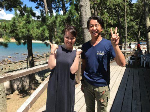 静岡県西伊豆町黄金崎公園ビーチの水中アスレチックチャレンジャーの画像です。ここはダイビングはもちろんシュノーケリングや体験ダイビングも楽しめる絶景ポイントです。