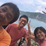 7月最終日に黄金崎公園ビーチにダイビングしに来たお二人です。楽しく潜れました~!