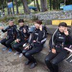 8月12日黄金崎で体験ダイビング田中様ファミリー