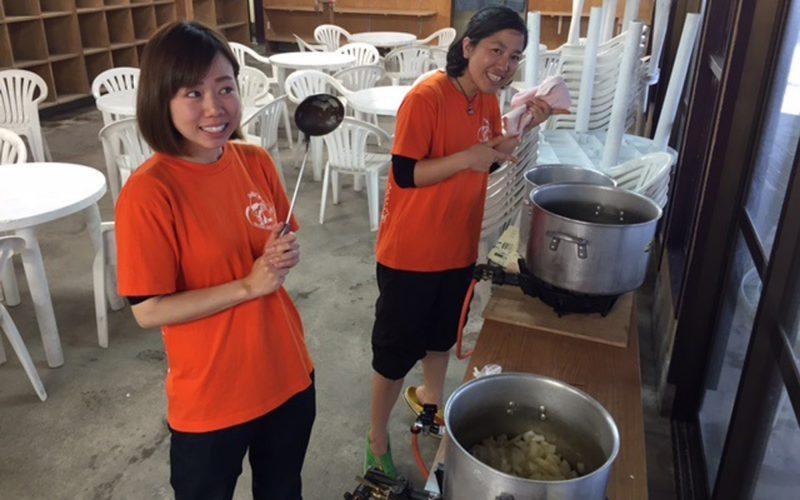 西伊豆黄金崎公園 ダイバー向けイベント スタッフ手作りの各種のスープで温まって