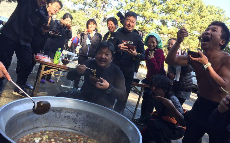西伊豆黄金崎公園 ダイバー向けイベント 芋煮会で心も体も温まる