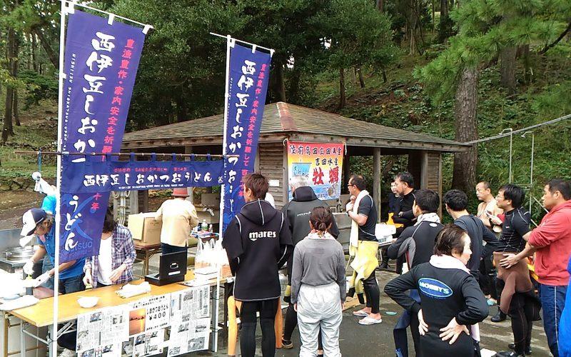 西伊豆黄金崎公園 ダイバー向けイベント 牡蠣祭りは岩手の山田町から下記が届く