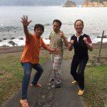静岡県西伊豆町黄金崎公園ビーチでダイビングした3人組です。ここはダイビングはもちろんシュノーケリングや体験ダイビングも楽しめる絶景ポイントです。
