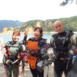 西伊豆黄金崎公園ビーチでダイビングしてきました~!すごくいい海でした。