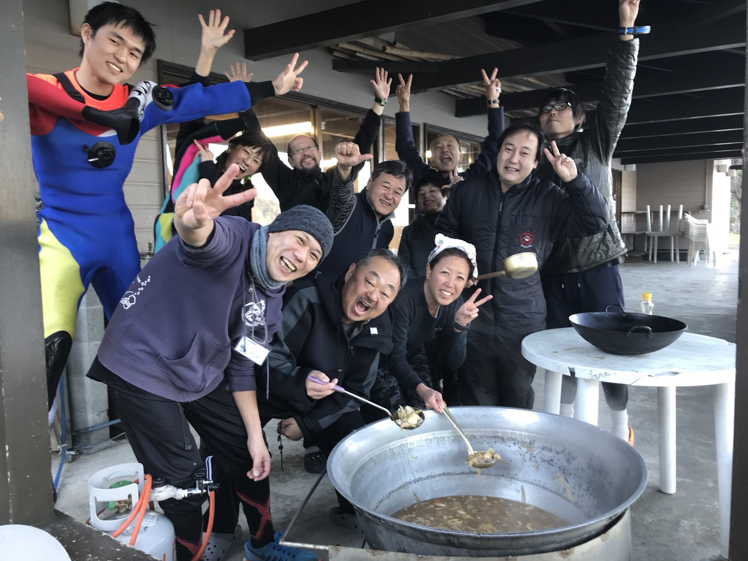 芋煮:静岡県西伊豆町黄金崎公園ビーチのダイビングで見れました。ここはダイビングはもちろんシュノーケリング(スノーケリング)や体験ダイビングも楽しめる絶景ポイントです。